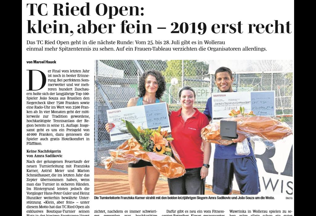 TC Ried Open:  klein, aber fein – 2019 erst recht
